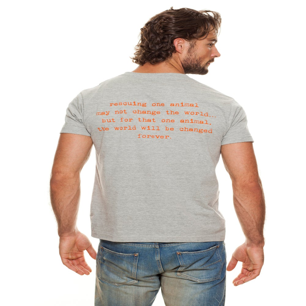 Image of guy's recycled cotton classic tiny tim tee
