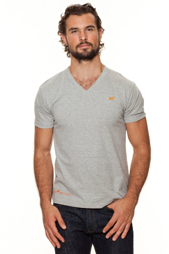 Image of guy's recycled cotton classic tiny tim vee-neck