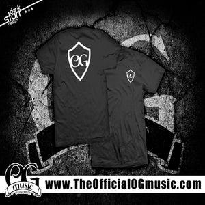 Image of OGmusic Shield T-Shirt (Black)
