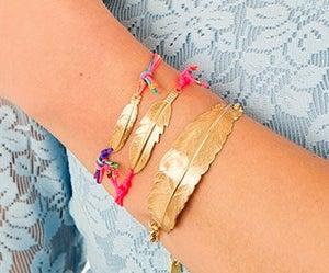 Image of Large feather bracelet