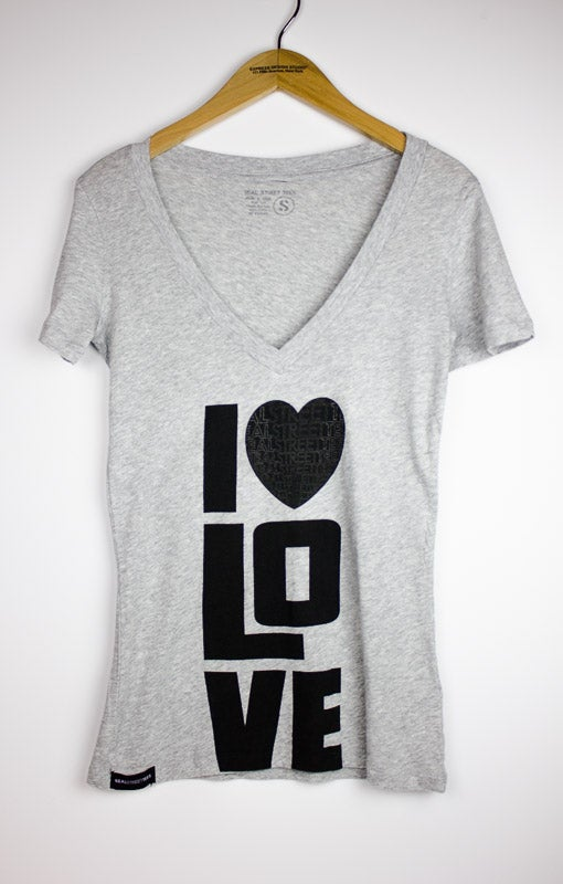 Image of I LUV LOVE- Grey Tee
