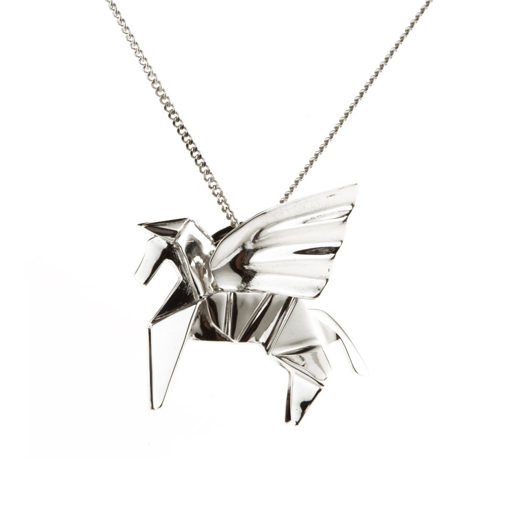 Collier Pégase - Origami Jewellery