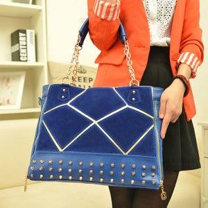 Image of Rivet Splice Scrub Chain Handbag