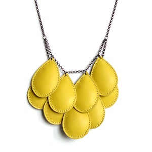 Image of Pepitas, Leather Necklace, Yellow