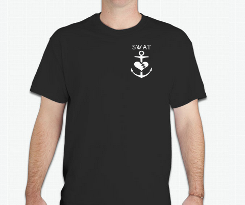 Image of SWAT Classic Anchor Tee (Male Black)