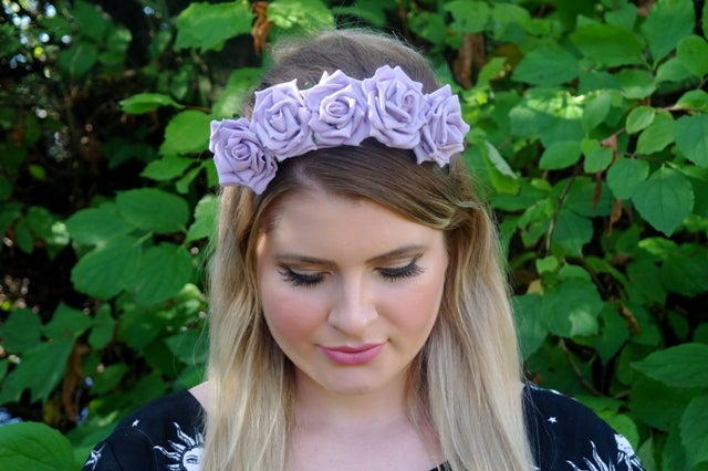 Image of Wild Rose Crown Lilac Lavender