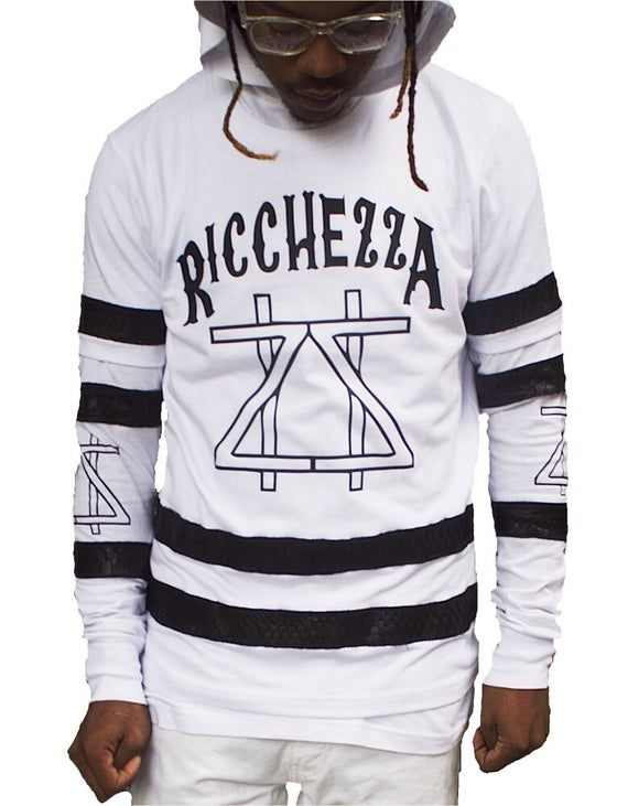 Image of  RICCHEZZA™ All-Season Premium Python Jersey (White/Black): Two Pieces Included