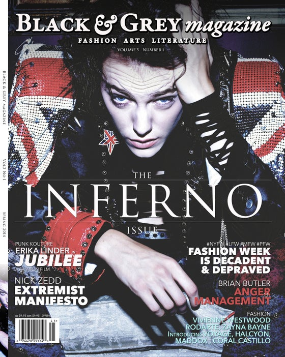 Image of BLACK & GREY MAGAZINE VOL 3 NUMBER 1 INFERNO NEWSSTAND EDITION