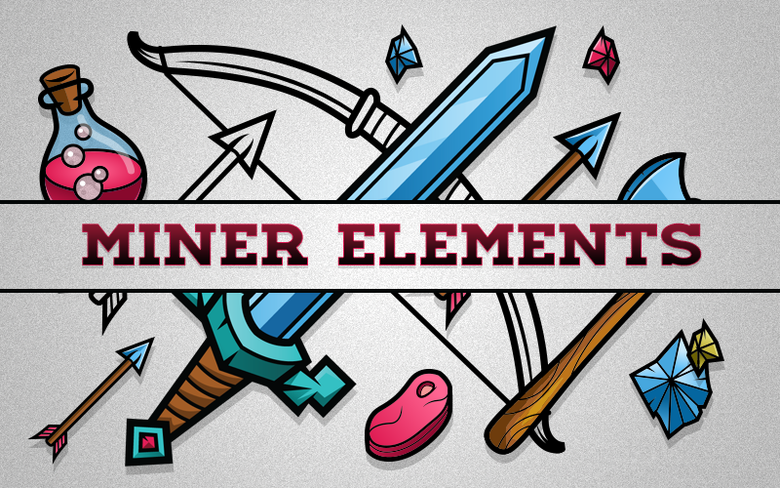 "Image of ""Miner Elements"" Stock Art"