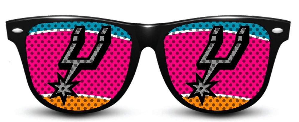 Image of My Custom Specks San Antonio Spurs Specks (Retro Logo)