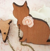 Image of Catch Me Kitty... double brooch