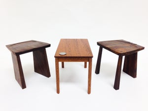 Image of Miniature Cardinal Stool or Coffee Table