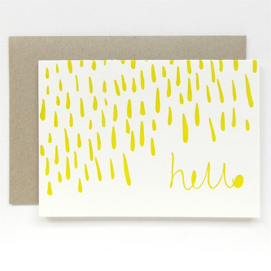 Image of Letterpress Gift Card - Hello