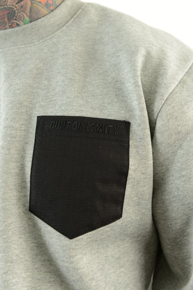 Image of SCALES OF LIFE POCKET CREWNECK
