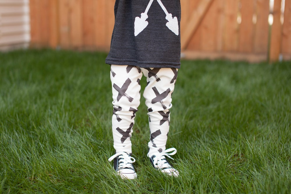 Image of ORGANIC COTTON BRUSHED X CUFFED LEGGINGS