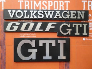 Image of Trimsport VW Golf Mk1 Badge Set (1x Grille, 2x Rear)