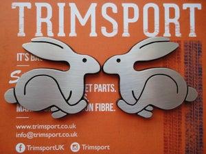 Image of Trimsport VW Golf Mk1 Rabbits Pair of Badges
