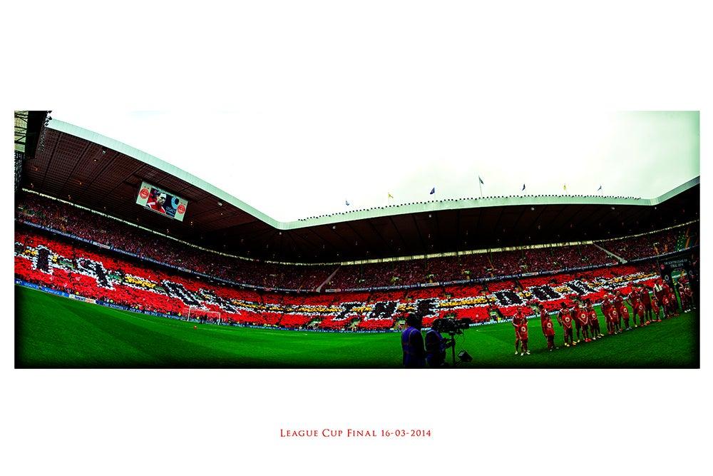 Image of Ltd Ed Print: 1903 The Dons - Lomo: League Cup Final 16.03.2014