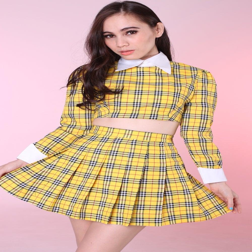 Yellow Tartan Skirt Uk 90