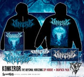 Image of KONKEROR - zip hoodie + CD / DIGIPACK deal