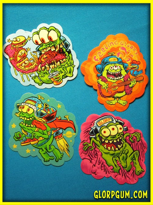 Image of GLORP Die Cut Vinyl Sticker Pack!