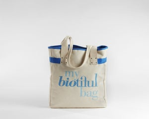 Image of Signature Flat Tote Blue