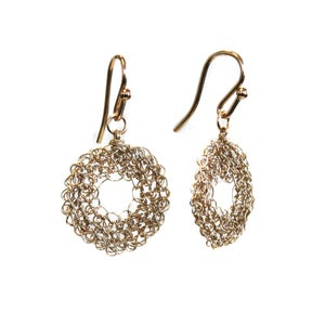 Image of Donut earrings - gold filled