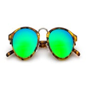 Image of Audacia - Havana Storia + Green Mirrored Lens