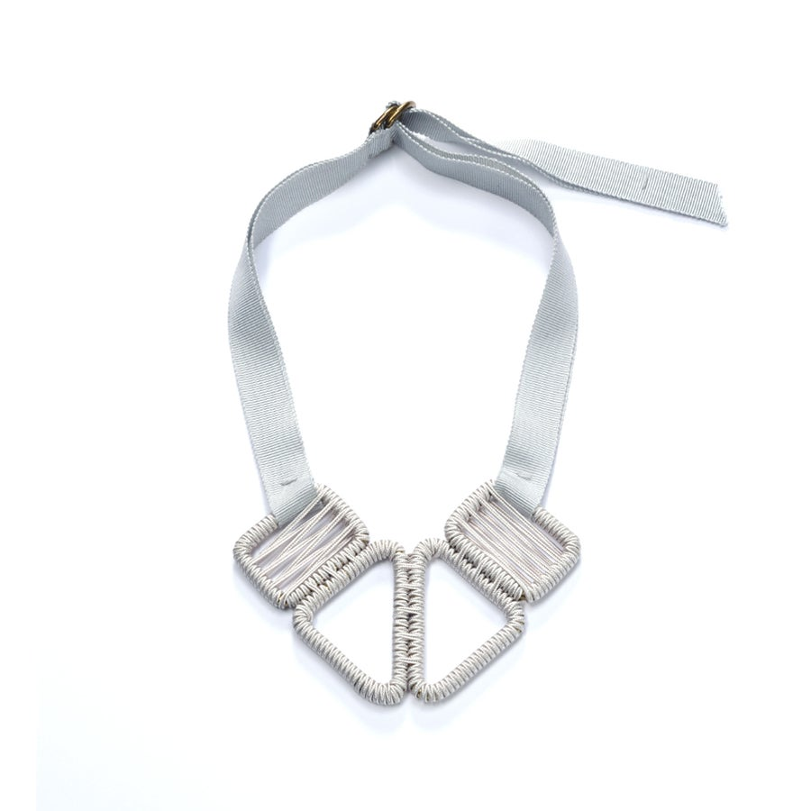Image of short woven necklace #943, color 1S