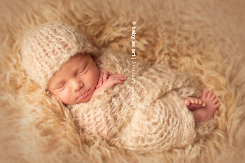 Image of {the Dream} Knit Mini Blanket & Headband SET