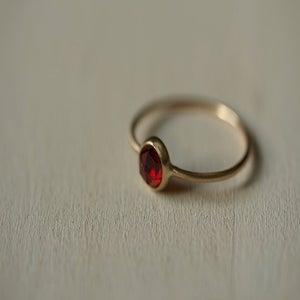 Image of Red Garnet 14k Ring