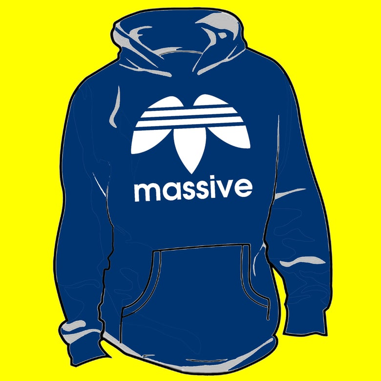 Image of Massive Logo Pullover Hoodie