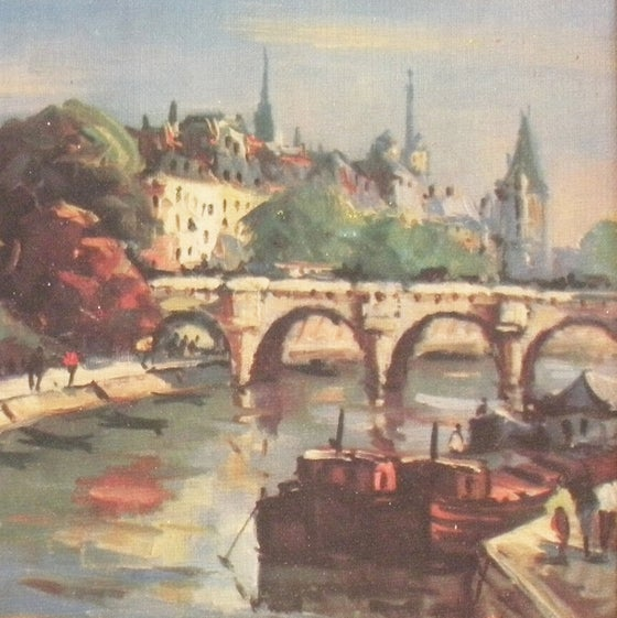 Image of Paris Oil Painting