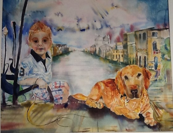 Image of child and furchild