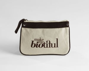 Image of Petite Zipper Pouch Brown