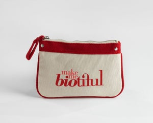 Image of Petite Zipper Pouch Red