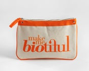 Image of Large Zipper Pouch Orange