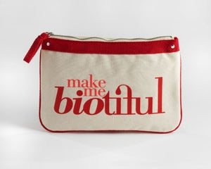 Image of Large Zipper Pouch Red