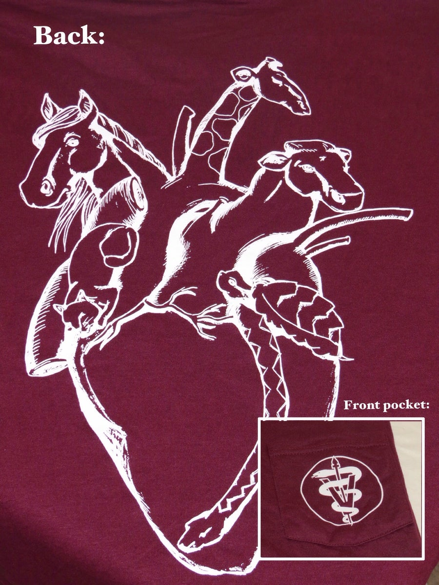Nc state university cvm class of 2017 heart of a vet for Front pocket t shirt design