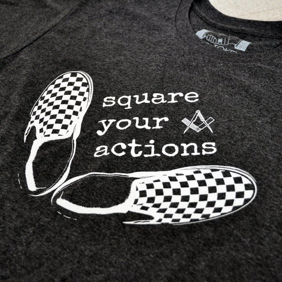 Image of Square Your Actions T-shirt - Charcoal Heather