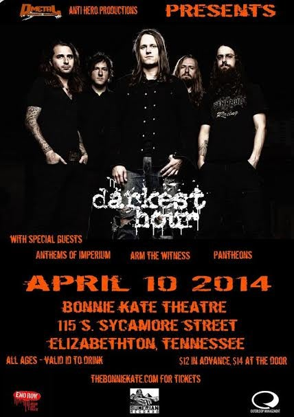 Image of Darkest Hour @ The Bonnie Kate Theater April 10th