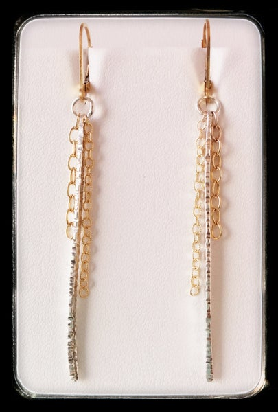 Image of spike/chain earrings