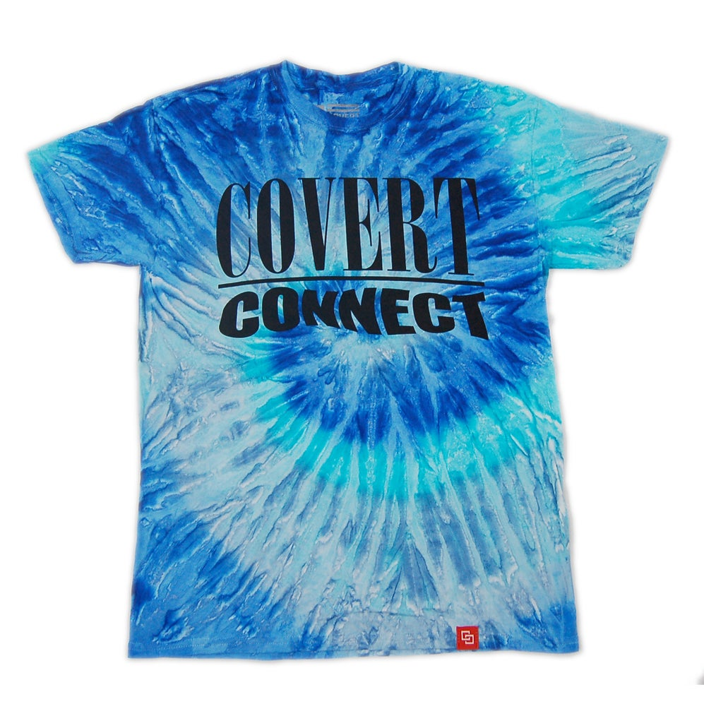 Image of Nevermind - T-shirt (Blue Jerry Tie Dye)