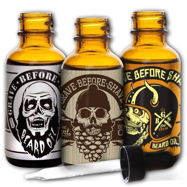 Image of GRAVE BEFORE SHAVE Beard oil 3 Pack