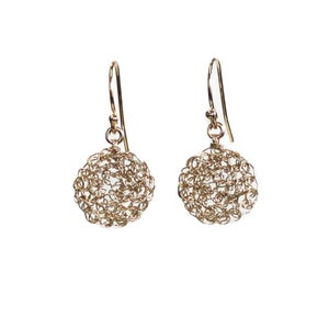 Image of Tiny Dot Gold Filled Earrings