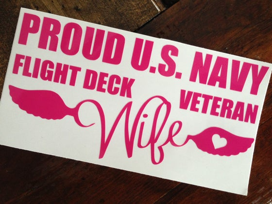 Image of Proud WIFE FDVG window decal