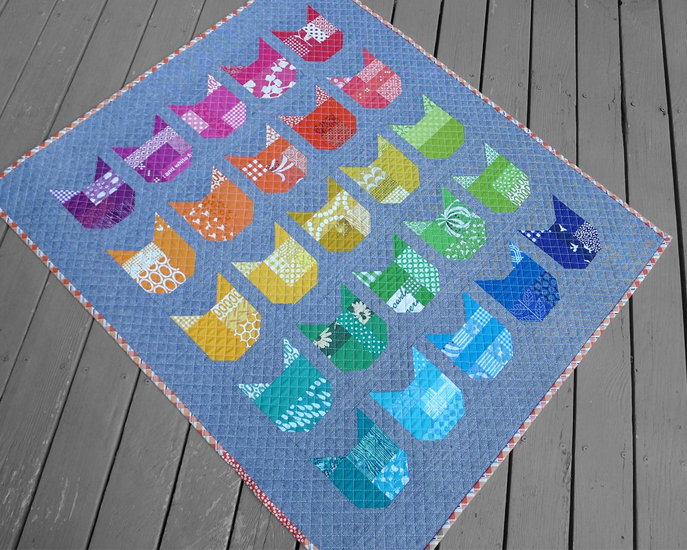 Image of THE CAT pdf quilt pattern