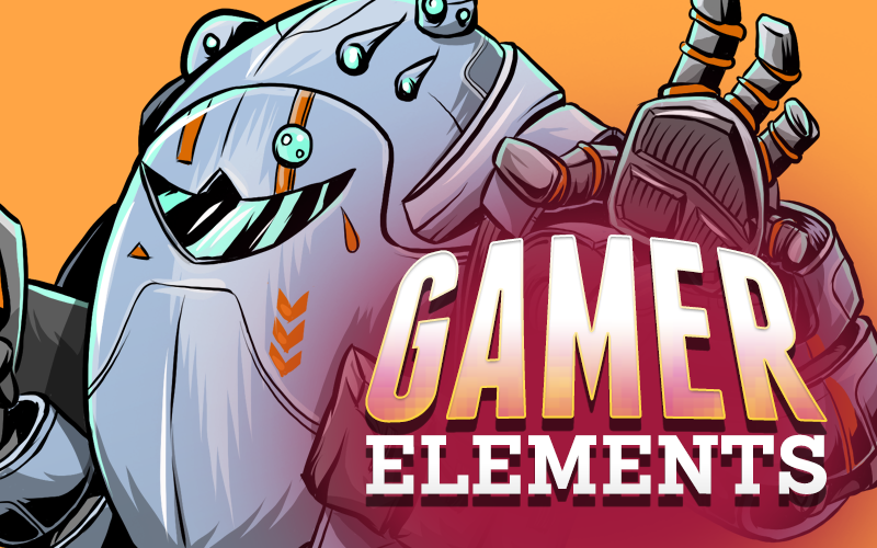 "Image of ""Gamer Elements"" Stock Art"