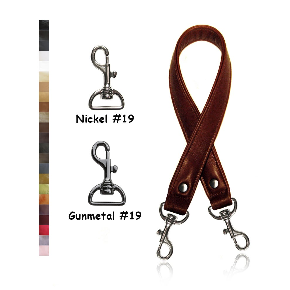 """Image of 30"""" (inch) Long Leather Purse Strap - 1"""" (inch) Wide - Your Choice of Color & Hook #19"""