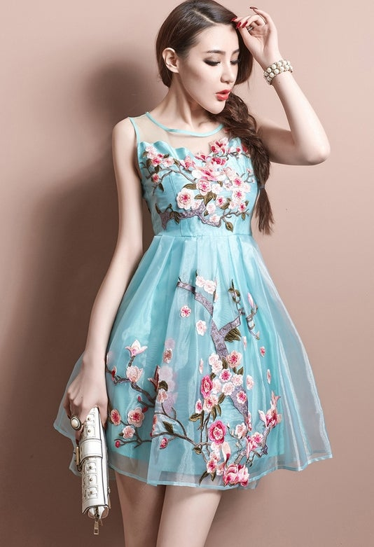 Image of lovely Embroidered dress L3516